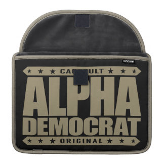 ALPHA DEMOCRAT - I Am a Donkey Punch Expert, Gold Sleeves For MacBooks