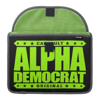 ALPHA DEMOCRAT - I Am a Donkey Punch Expert, Lime Sleeves For MacBook Pro