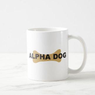 Alpha dog classic white coffee mug