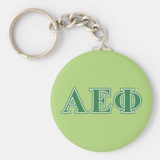 Alpha Epsilon Phi Green Letters 3 Keychain