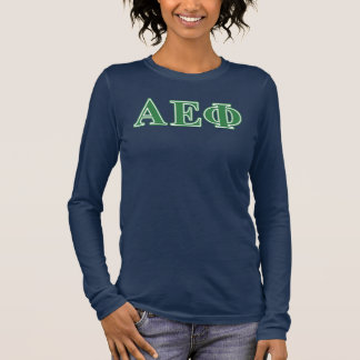 Alpha Epsilon Phi Green Letters 3 Long Sleeve T-Shirt