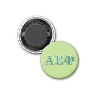 Alpha Epsilon Phi Green Letters 3 1 Inch Round Magnet