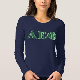 Alpha Epsilon Phi Green Letters 3 T-Shirt