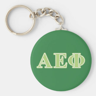 Alpha Epsilon Phi Green Letters Keychain