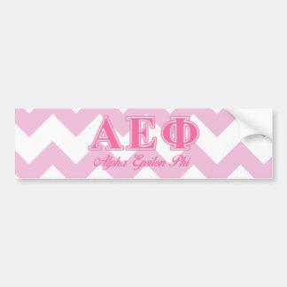 Alpha Epsilon Phi Pink Letters Car Bumper Sticker