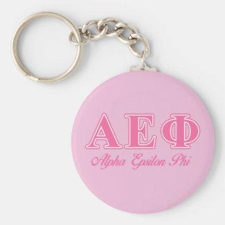 Alpha Epsilon Phi Pink Letters Keychain