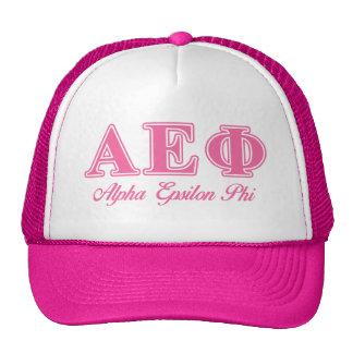 Alpha Epsilon Phi Pink Letters Trucker Hat