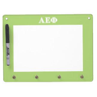 Alpha Epsilon Phi White and Green Letters Dry-Erase Board