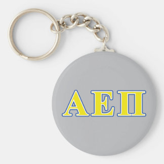 Alpha Epsilon Pi Blue and Yellow Letters Keychain