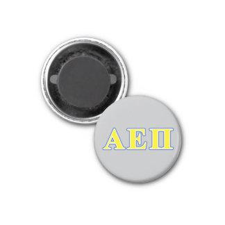 Alpha Epsilon Pi Blue and Yellow Letters Magnet