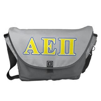 Alpha Epsilon Pi Blue and Yellow Letters Messenger Bags