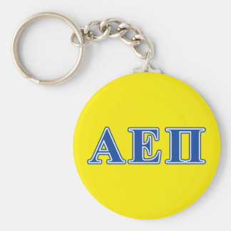 Alpha Epsilon Pi Blue Letters Keychain