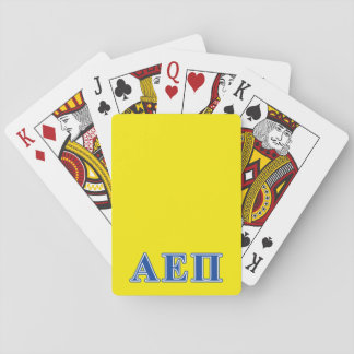 Alpha Epsilon Pi Blue Letters Poker Deck