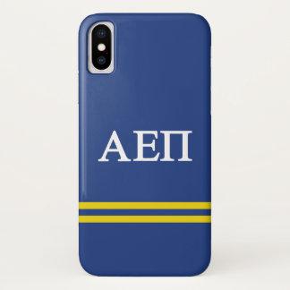 Alpha Epsilon Pi   Sport Stripe iPhone X Case