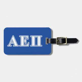 Alpha Epsilon Pi White and Blue Letters Tag For Luggage