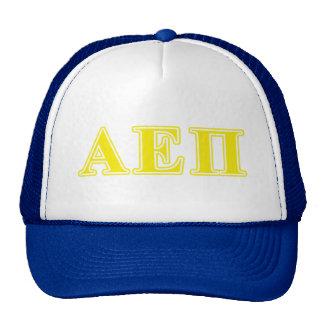 Alpha Epsilon Pi Yellow Letters Trucker Hat