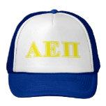 Alpha Epsilon Pi Yellow Letters Trucker Hats