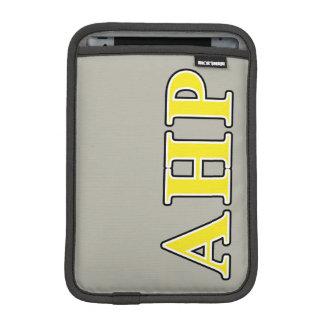 Alpha Eta Rho Black and Yellow Letters iPad Mini Sleeve