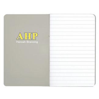 Alpha Eta Rho Black and Yellow Letters Journal