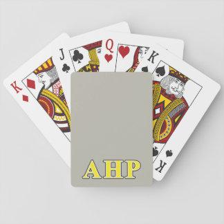 Alpha Eta Rho Black and Yellow Letters Poker Deck