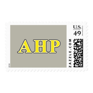 Alpha Eta Rho Black and Yellow Letters Postage Stamp