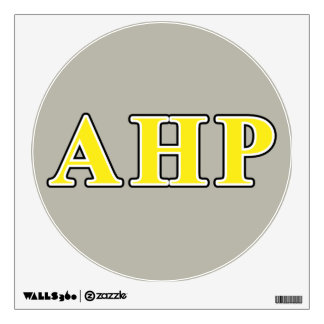 Alpha Eta Rho Black and Yellow Letters Wall Decal