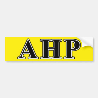 Alpha Eta Rho Black Letters Bumper Sticker