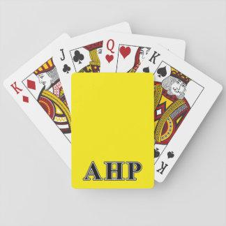 Alpha Eta Rho Black Letters Card Decks