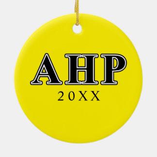 Alpha Eta Rho Black Letters Ceramic Ornament