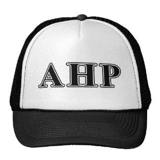 Alpha Eta Rho Black Letters Trucker Hat