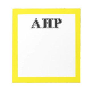 Alpha Eta Rho Black Letters Notepad