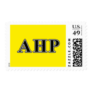 Alpha Eta Rho Black Letters Postage Stamp
