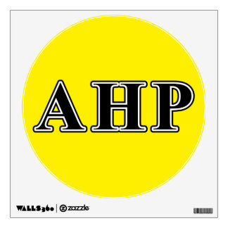 Alpha Eta Rho Black Letters Wall Decal