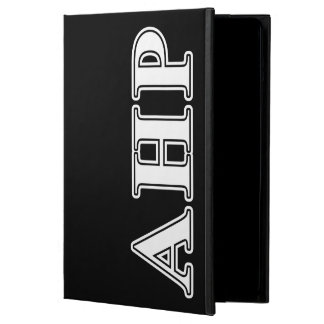 Alpha Eta Rho White and Black Letters Cover For iPad Air