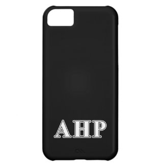 Alpha Eta Rho White and Black Letters Cover For iPhone 5C