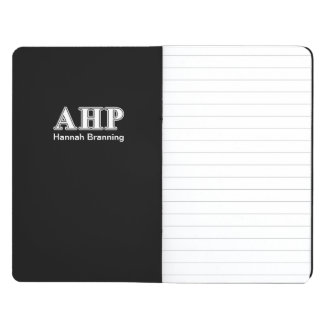 Alpha Eta Rho White and Black Letters Journal