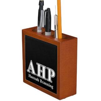Alpha Eta Rho White and Black Letters Pencil Holder
