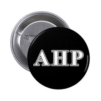 Alpha Eta Rho White and Black Letters Pinback Button