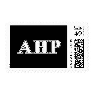 Alpha Eta Rho White and Black Letters Postage Stamp