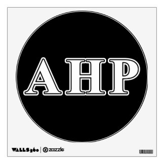 Alpha Eta Rho White and Black Letters Wall Decal
