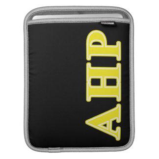 Alpha Eta Rho Yellow Letters iPad Sleeves