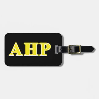 Alpha Eta Rho Yellow Letters Luggage Tag