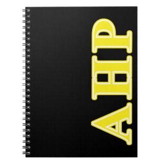 Alpha Eta Rho Yellow Letters Notebook