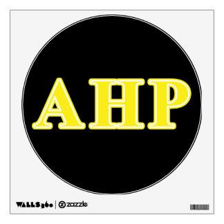 Alpha Eta Rho Yellow Letters Wall Sticker
