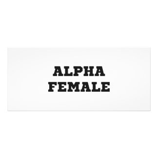 Alpha Female Custom Rack Card