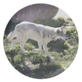 Alpha Female Wolf Dinner Plate