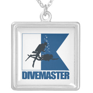"""""""Alpha Flag -Divemaster"""" Silver Plated Necklace"""