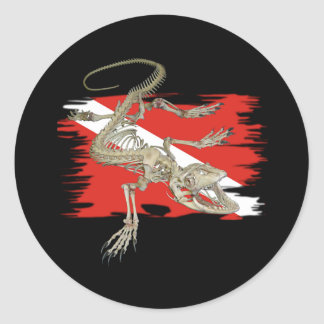 Alpha Flag Divers Collection Classic Round Sticker