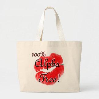 Alpha-Free Large Tote Bag
