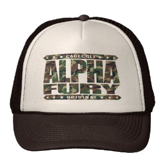 ALPHA FURY - Harness the Forces of Nature, Camo Trucker Hat